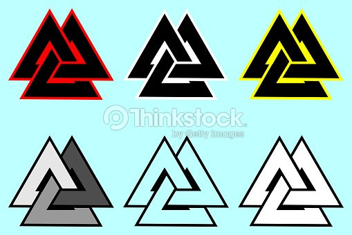 Valknut Symbol Triangle Icon Vector Art Thinkstock
