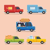 Van Truck icon with different color and variation