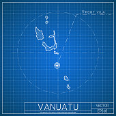 Vanuatu blueprint map template with capital city vector art thinkstock download image malvernweather Images
