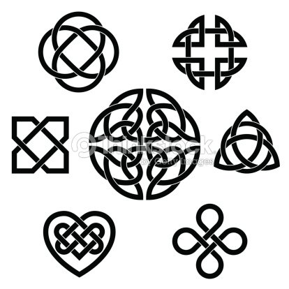 Varietà Di Nodi Celtici arte vettoriale - Thinkstock
