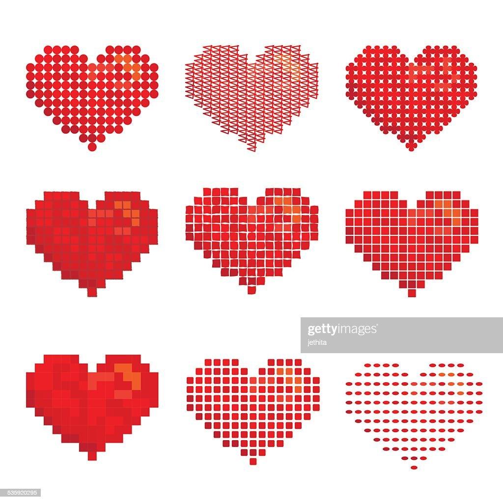 variety of heart shape design : Vector Art