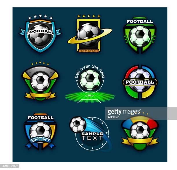 Various football emblems