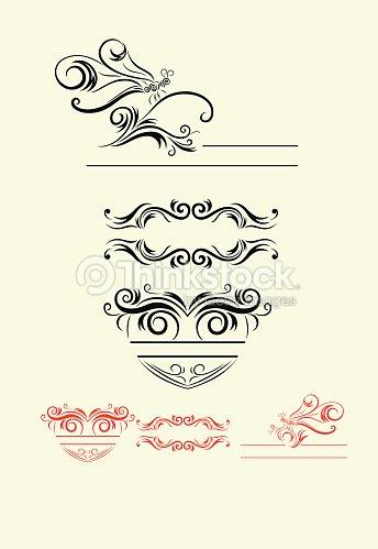 various label borders ornament vector art thinkstock