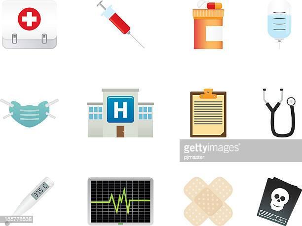 Various medical icon sets of symbols