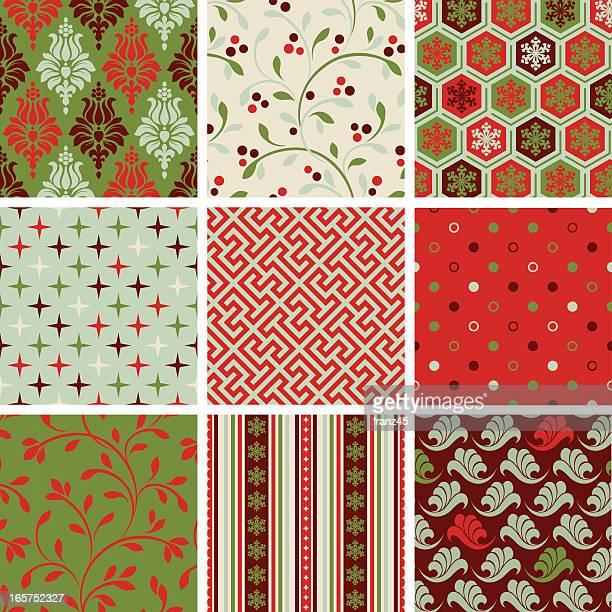 Various seamless Christmas pattern