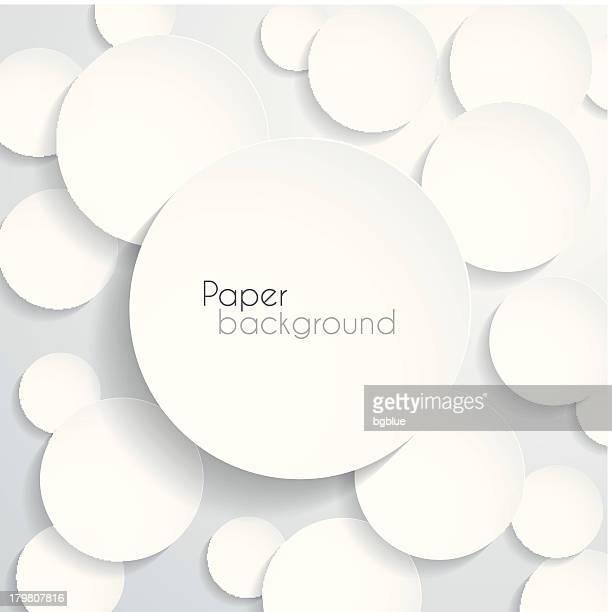 Various sized white circle background