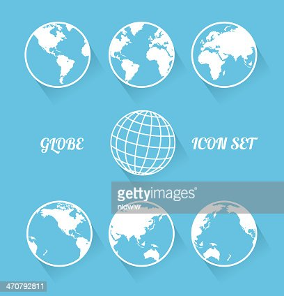 Vecrot Welt-icon set.  Modernen flach Stil : Vektorgrafik