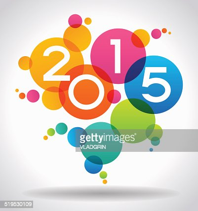 Vector 2015 Happy New Year background : Vector Art