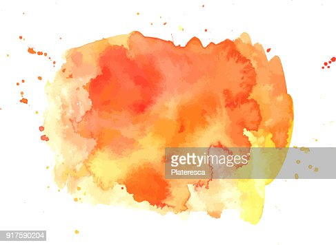 Vector abstract artistic vibrant orange watercolor background texture : stock vector