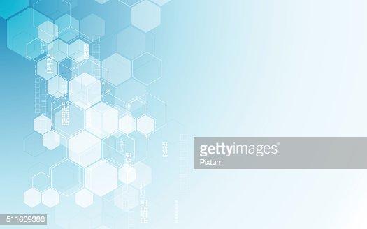 ベクトル抽象的な背景 六角形 柄テック SF 革新的なコンセプト : ベクトルアート