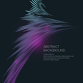 Vector abstract background with dynamic waves. Illustration suitable for design