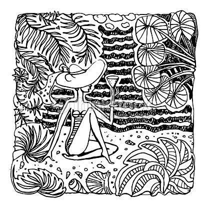 Vector Abstracto Blanco Y Negro Doodle Sketch Fantasia De Dibujado A