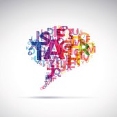 Vector Abstract colorful dialog bubble