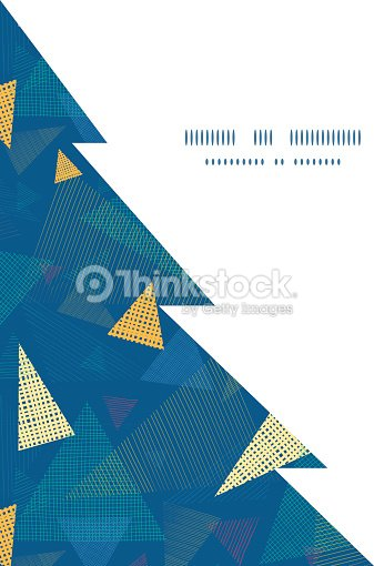 Vector Abstract Fabric Triangles Christmas Tree Silhouette Pattern ...