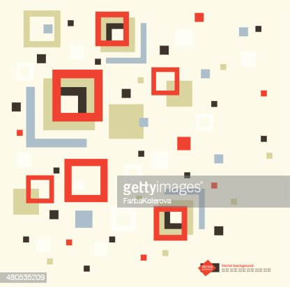 vector abstract geometric background : Vector Art