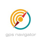 Vector abstract  gps navigator