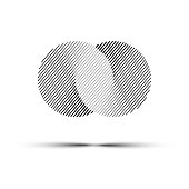 Vector abstract infinite circles. Black line logo design element.