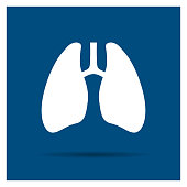 Vector Illustration of an Abstract Lungs Icon