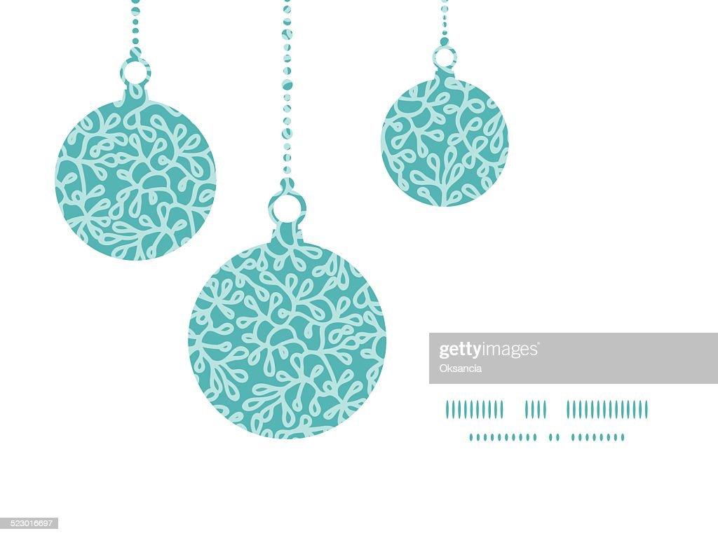 Vektor Abstrakte Unterwasserpflanzen Weihnachtsornamente Silhouetten ...