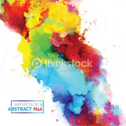 Vector Abstract Watercolor Palette Of Mix Colors Vector Art