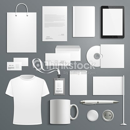 Vector accessory templates for business branding : stock vector