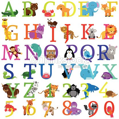 Vector animal themed alphabet stock vector thinkstock - Lettre alphabet original ...