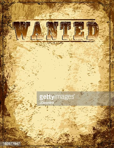 Vector Antique Wanted Poster Design Template With Copy Space