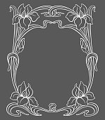 Vector art nouveau ornamental frame with space for text.