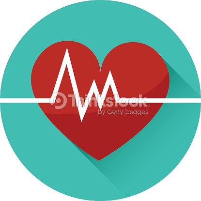 vector art of a beating heart icon vector art thinkstock