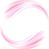 Vector background. Abstract the circle of soft pink waves. Frame of soft waves.