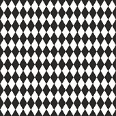 Vector background with black and white rhombus, seamless pattern