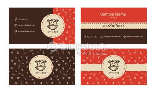 Boulangerie Cartes De Visite Vecteur Modele Avec Logo Clipart Vectoriel