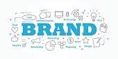 Vector banner flat design in brand concept.