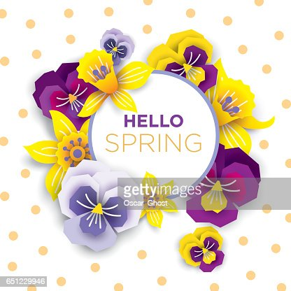 Vector Banner Of Spring Flowers Daffodils And Daisies On A White