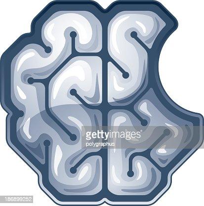 brain top view vector - photo #23