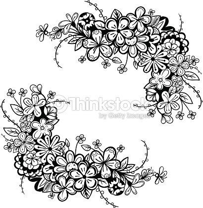 Vector Black And White Flower Frame Vector Art Thinkstock