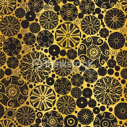 Vector black gold abstract doodle circles seamless pattern vector black gold abstract doodle circles seamless pattern background great for elegant texture fabric cards wedding invitations wallpaper stopboris Image collections
