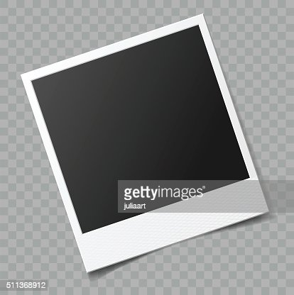 Vector blank photo frame with transparent shadow effect : Vector Art