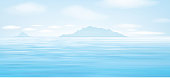 Vector blue   sea   background.