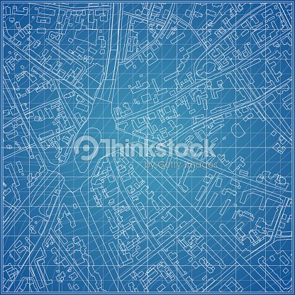 Vector blueprint with city topography vector art thinkstock vector blueprint with city topography vector art malvernweather Gallery