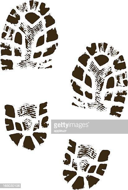 Vector Boot Prints