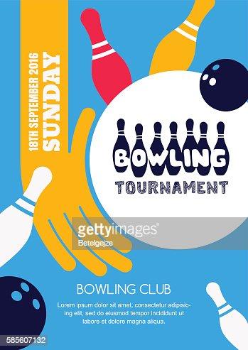 bowling fundraiser flyer template
