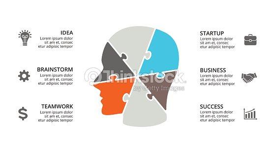 Infografía De Cerebro De Vector Plantilla De Diagrama De Cabeza ...
