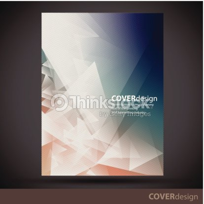 Vector Brochure Flyer Cover Design Template With White