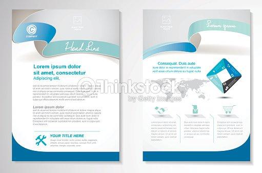 vector brochure flyer design layout template size a4 vector art