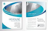 Curve design, Blue color front page and back page, infographics.Easy to use and edit.