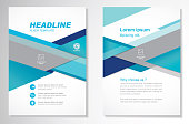 size A4, Front page and back page, infographics. Easy to use and edit.