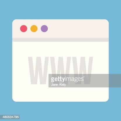 Vector Browser Icon : Vector Art