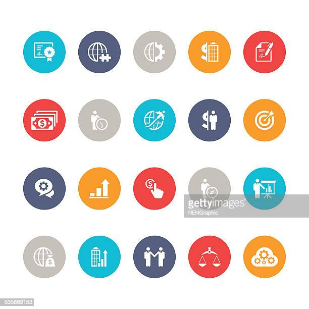 Vector business icon ,management and strategy set | 5color Series
