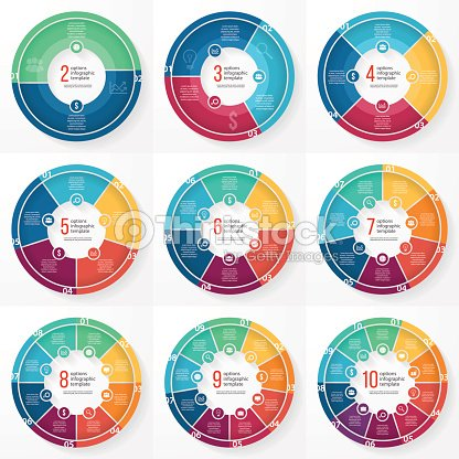 Vector business pie chart circle infographic set : stock vector
